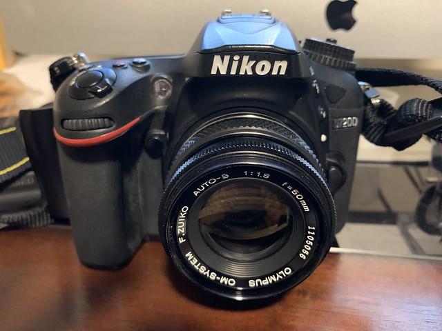 Olympus F.Zuiko 50mm F1.8 pancake mounted on Nikon D7200 W Pixco adapter. Gorgeous lens.