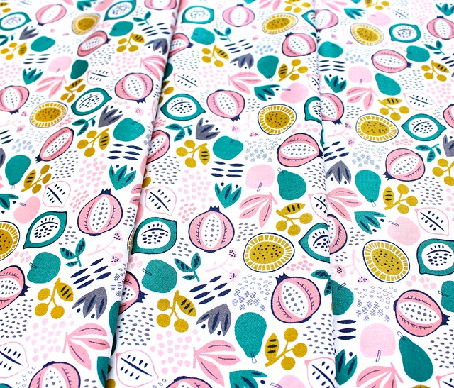 Felicity Fabrics Burgess Field in Begonia 610006