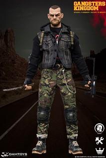 威懾感十足的魄力頭雕! DAMTOYS 黑幫王國系列 黑桃J 回憶篇:逃往墨西哥 -「克雷格」(Greg) 1/6 比例人偶
