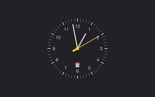 analog clock screen saver macos