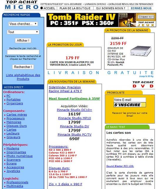 TopAchat en 1999