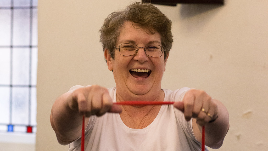 The new REACT blog offers practical exercise advice to people aged 60+ who are stuck at home. Credit: Alex Rotas.