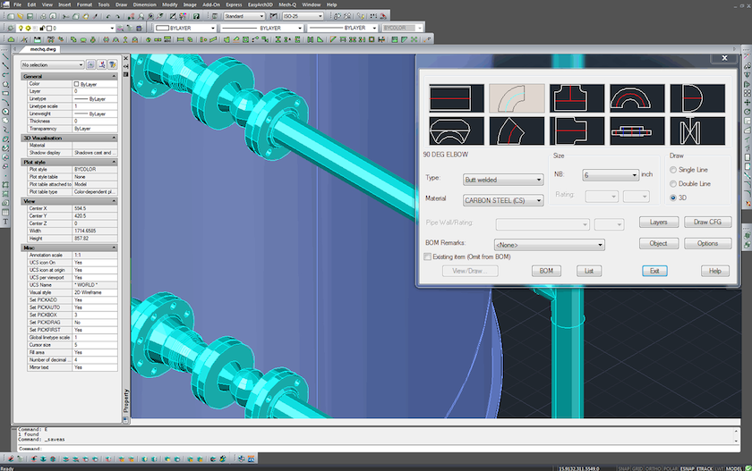 Working with ASVIC Mech-Q Full Suite 4.16.001 for AutoCAD 2002-2019 full