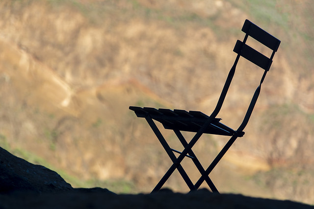 Silhouette of a chair