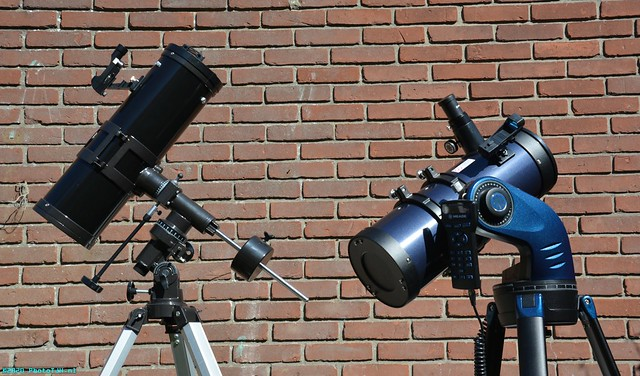 The Byomic and the Meade telescopes.