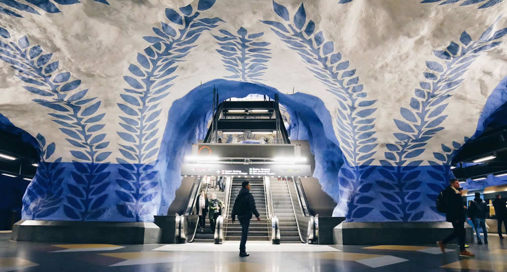 Bezienswaardigheden Stockholm: metrostations van Stockholm | Mooistestedentrips.nl