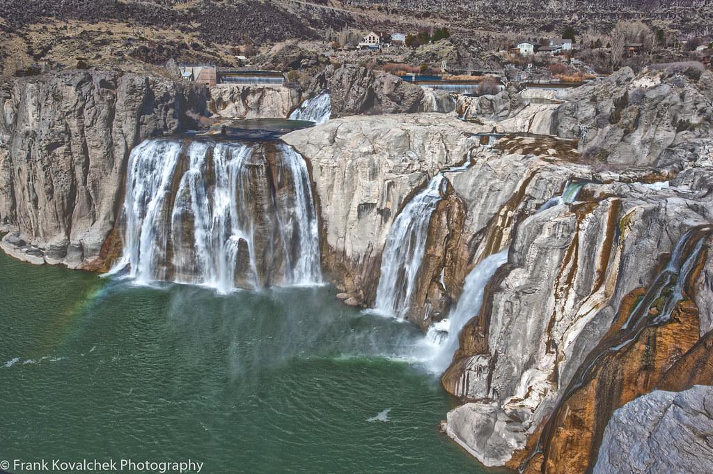 Low flow on Shoshone Falls near Twin Falls, Idaho