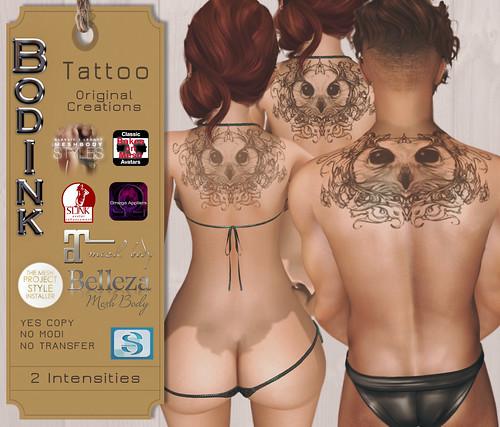 Bodink Owl Tattoo