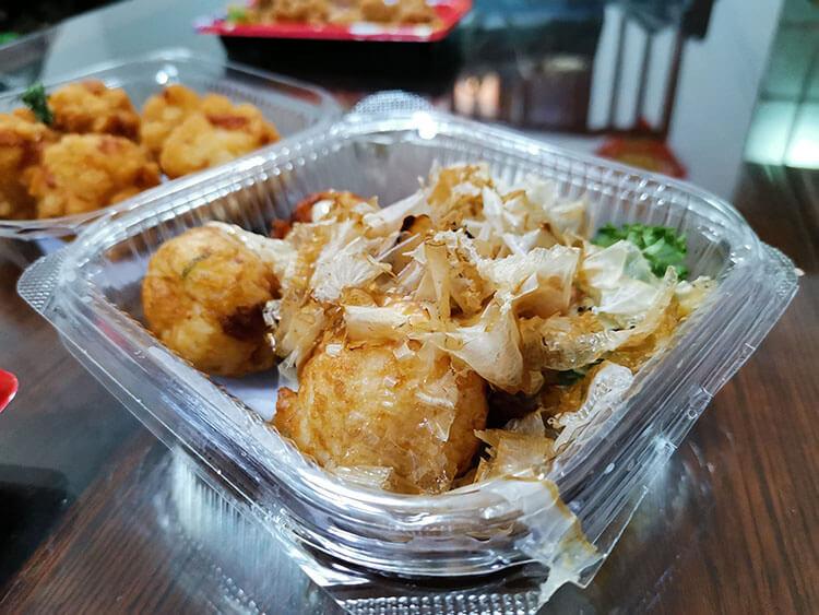 having Japanese food at home