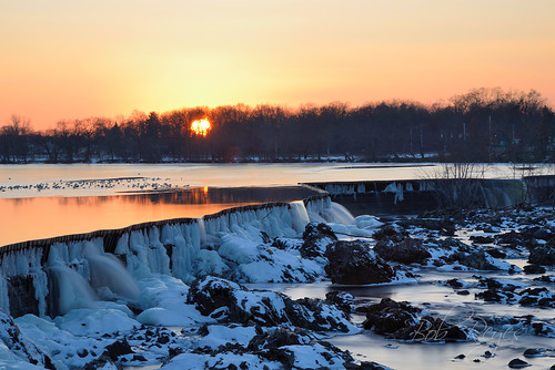 lowell pawtucket falls waterfalls winter sunset sunrise d800 nikon reyes river ice massachusetts
