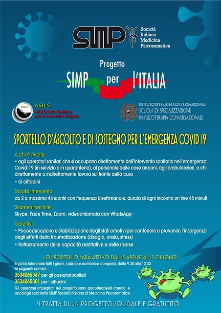 Locandina Progetto SIMP per l'Italia - Covid19