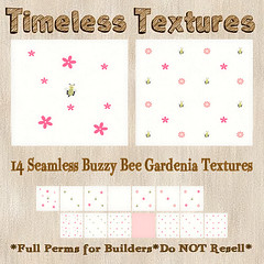 TT 14 Seamless Buzzy Bee Gardenia Timeless Textures
