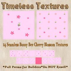 TT 14 Seamless Buzzy Bee Cherry Blossom Timeless Textures