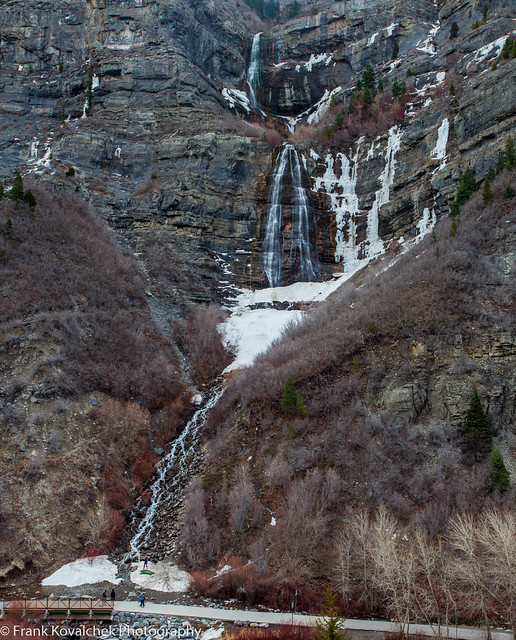 Bridal Veil Falls near Provo, Utah