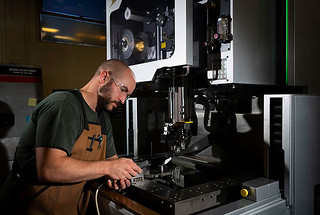 Machinists use computers, lathes, milling machines, and grinders to produce metal parts. They are in demand at the Laboratory, in New Mexico, and nationwide.