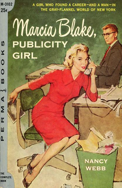 Perma Books M-3102 - Nancy Webb - Marcia Blake, Publicity Girl