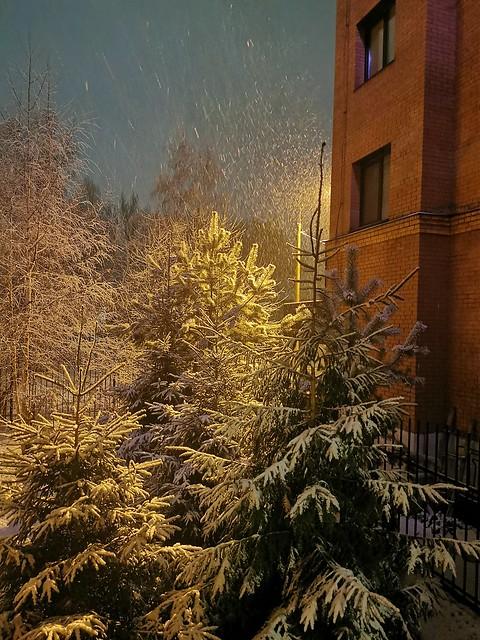 So viel Schnee heute...