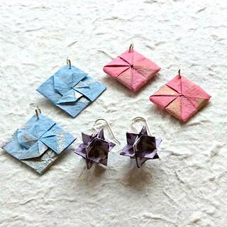 Origami Earring Tutorials