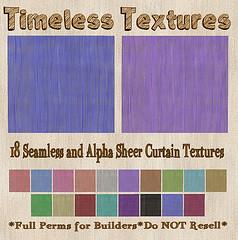 TT 18 Seamless and Alpha Sheer Curtain Timeless Textures