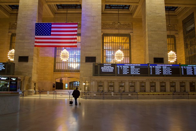 Grand Central Lonely Rush Hour Sweeper