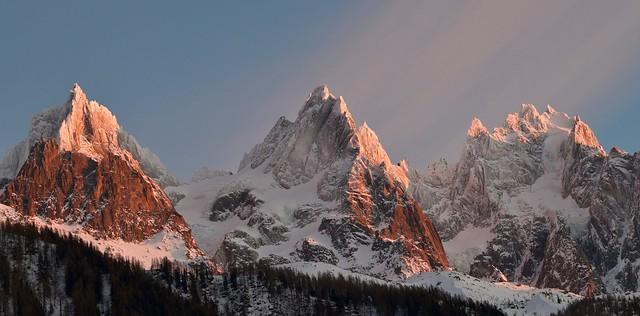 Sommets illuminés - Illuminated summits