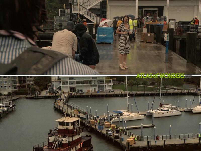 Boat and jetty scene