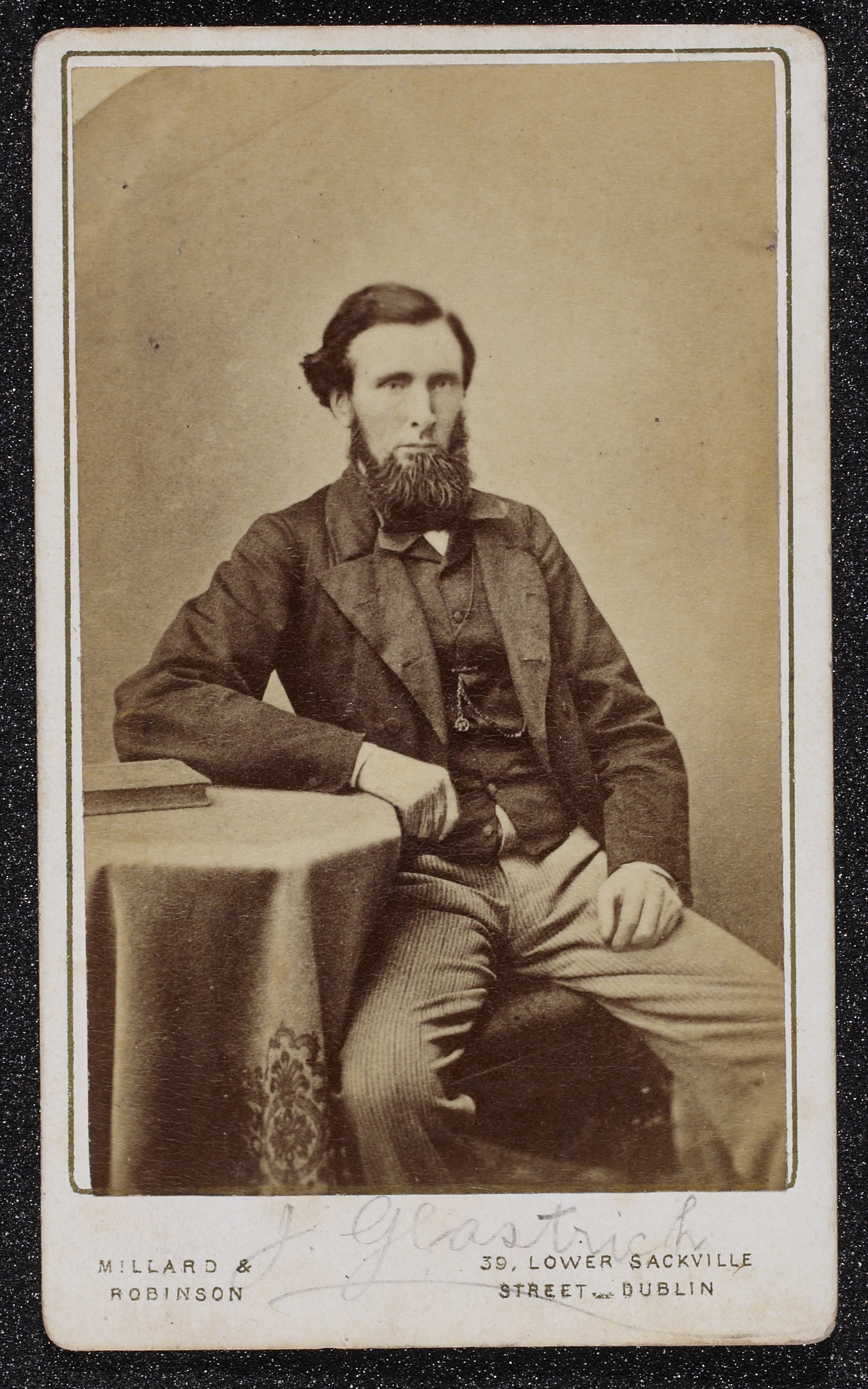 John Tyndall, half-length portrait, facing front