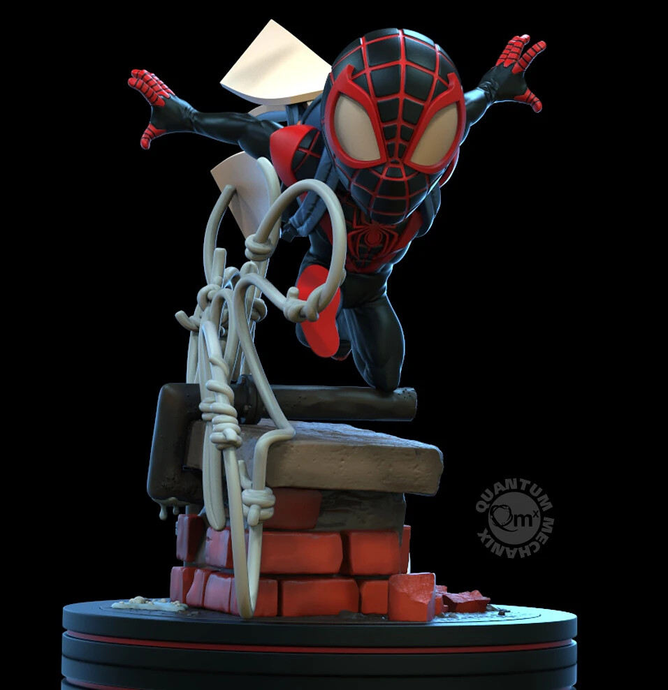 超級英雄趕著上學的可愛場景! Quantum Mechanix Q-Fig 系列 Marvel Comics【邁爾斯·摩拉斯】Miles Morales Spider-Man Q-Fig Elite Diorama
