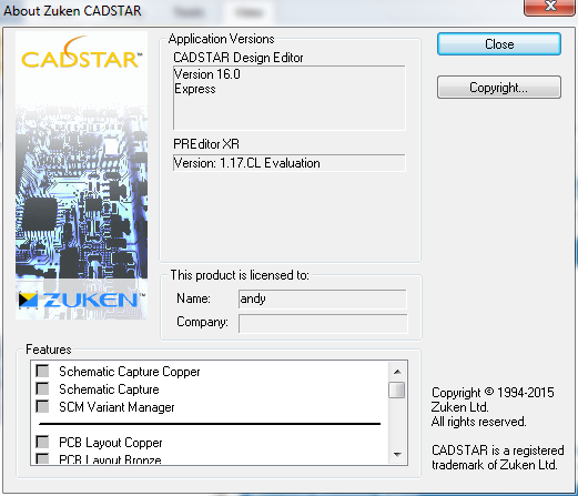 Zuken Cadstar 16.0 x86 x64 full license