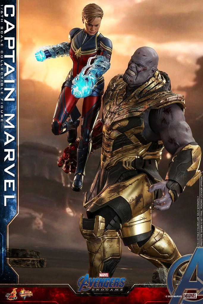 短髮造型終於登場! Hot Toys - MMS575 -《復仇者聯盟:終局之戰》驚奇隊長 Captain Marvel 1/6 比例人偶 戰損版的「奈米手套」配件也附上啦~