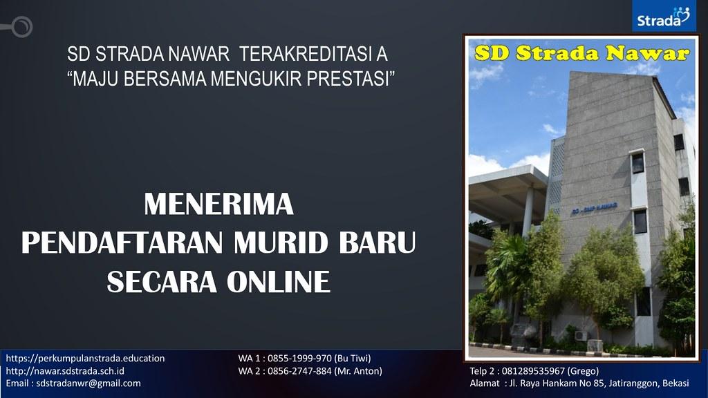 PENDAFTARAN MURID BARU SD STRADA NAWAR TAHUN PELAJARAN 2020/2021 ONLINE