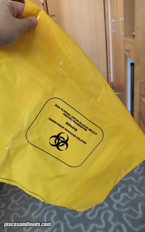 covid 19 hotel yellow bag