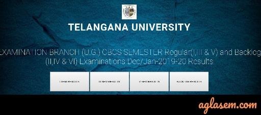 Telengana University UG Result