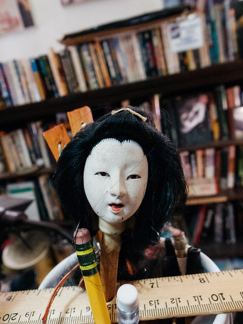 Geisha doll head