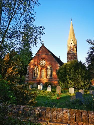 architecture church cofe village hertfordshire sunset country huaweimobile huaweip20pro evening brick quaint