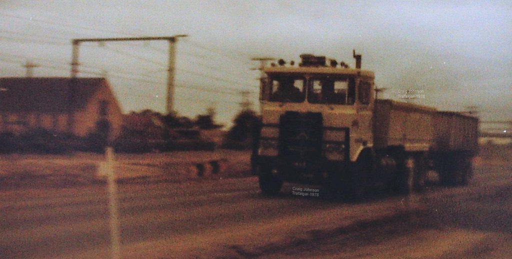 Atkinson Tipper on the Westbound at Trafalgar=1978
