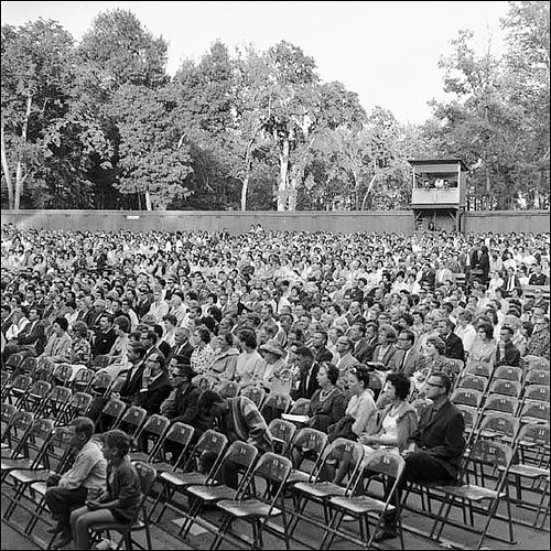 1950's - People watching an event at Rainbow Stage.