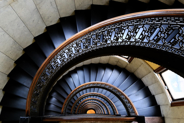 Bank Tower spiral staircase