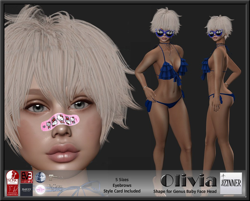 Zinner Shapes & Gallery - Olivia for Genus Baby Face Head