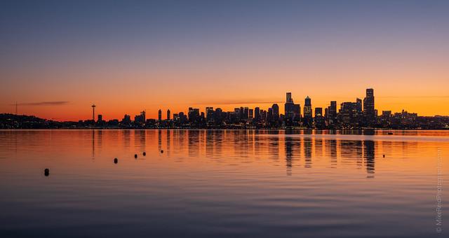 Seattle Sunrise Pano