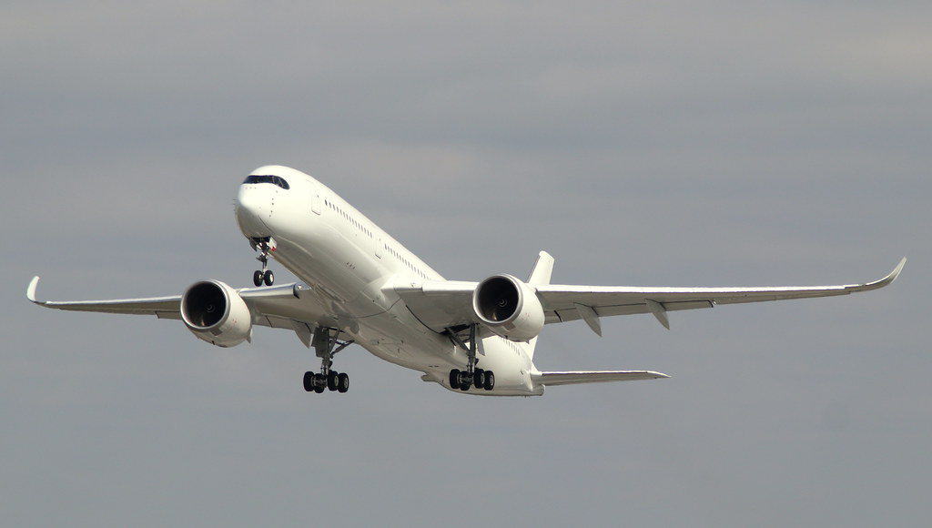 Hainan Airlines, F-WZFU, Reg. B-......, MSN 308, Airbus A 350-941, 16.04.2020,  XFW-EDHI, Hamburg Finkenwerder (Ferried XFW/EDHI - LDE/LFBT)