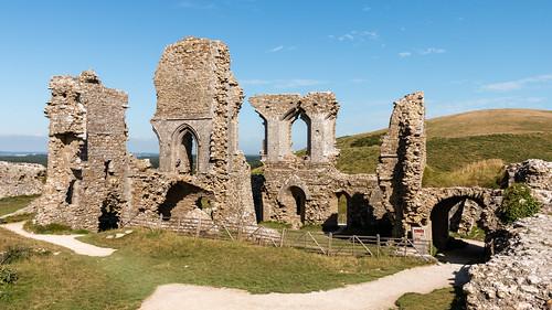 castle corfe ruins dorset england building architecture history landscape nationaltrust
