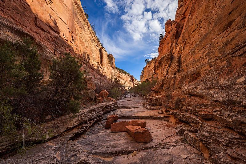 Hiking Up Ribbon Canyon