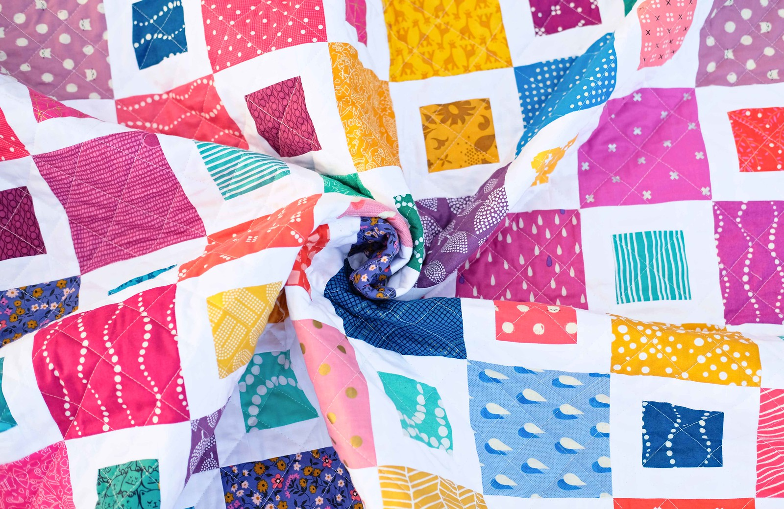 The Frances Quilt - Scrappy Version - Kitchen Table Quilting