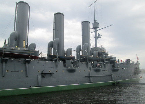 The Cruiser Aurora Looking Sternwards.