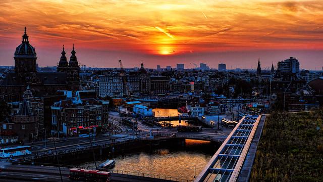 Amsterdam sunset