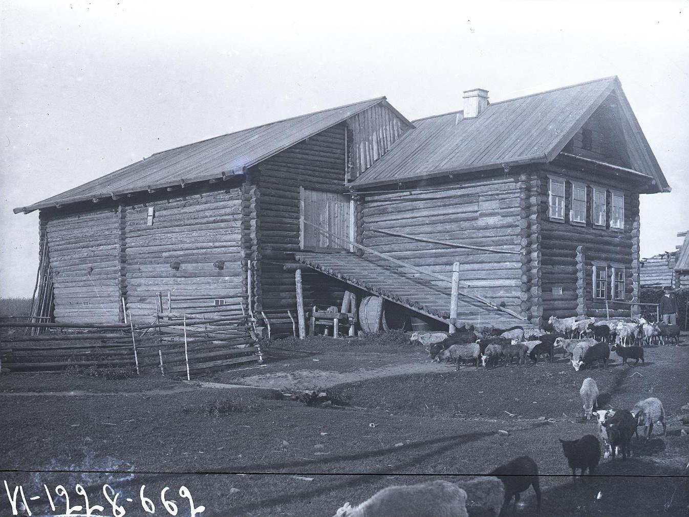 Типичный дом раскулаченного крестьянина в южной Карелии