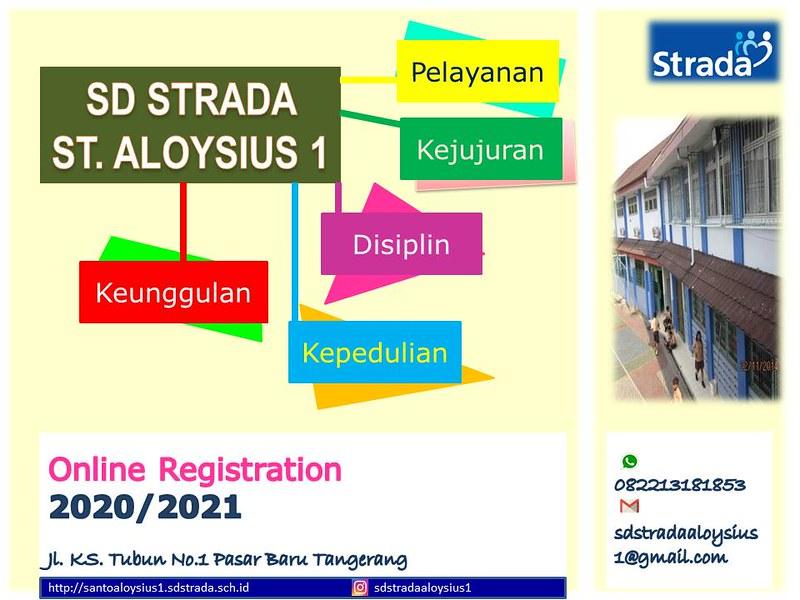 Pendaftaran Murid Baru (PMB) Online SD Strada St. Aloysius 1 Tangerang 2020/2021