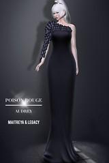 POISON ROUGE Audrey Petal Dress