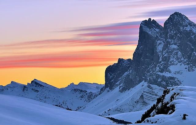 Italy, Dolomiti's sunrise